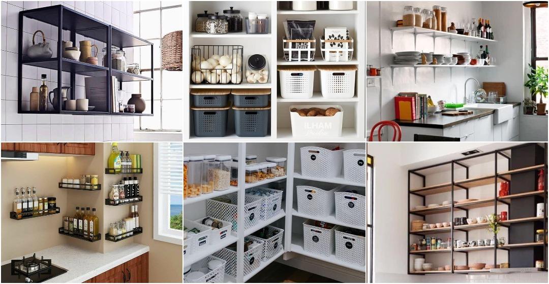 33 Gambar Idea Rak Di Dapur Ringkas Mudah Capai Ilham Media